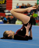 Farmington's Allie LeBlanc competes in the Floor Exercise during the State Girls Gymnastics Open at Pomperaug High School on Saturday, March, 1, 2008.
