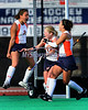 Syracuse's Maggie Befort (2) of Mechanicsburg, Pa. celebrates her game winning goal as time expires during the Big East Field Hockey Championship with Uconn on Sunday, November 9, 2008 in Storrs, Conn. Celebrating with her are teammates Lena Voelmle (14) of Hershey, Pa. and Nicole Nelson (4) of Telford, Pa.  Photo by Mike Orazzi.  http://www.mikeorazziphotography.com/