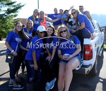 9/14/2013 Mike Orazzi | Staff CCSU fans tailgating before the start of home opener with Holy Cross in New Britain on Saturday evening.