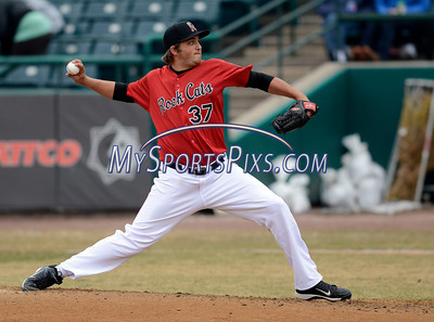 4/4/2014 Mike Orazzi | Staff Rock Cat's D.J. Baxendale (37) on the mound during Friday's game with the Richmond Flying Squirrels in New Britain.