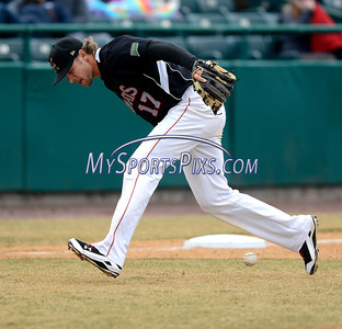 4/5/2014 Mike Orazzi | Staff Rock Cats' Brandon Waring (17) during Saturday's game with the Richmond Flying Squirrels in New Britain.
