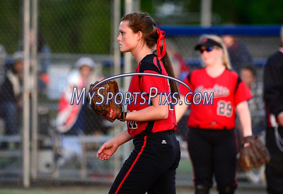 6/11/2014 Mike Orazzi | Staff Berlin High School's Makayla Harris (11) during a 7-0 loss to Sacred Heart Academy in the Class L Semifinal at West Haven High School on Wednesday night. :