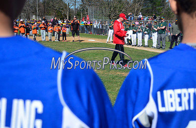4/16/2016 Mike Orazzi | Staff Forestville Little League President Jeremy Jeremy Duprey on opening day Saturday morning in Forestville.