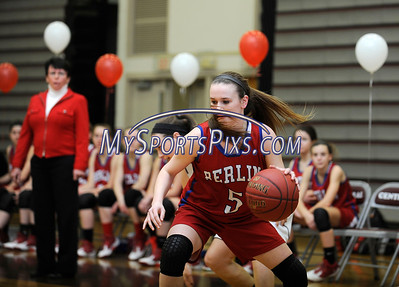 2/17/2016 Mike Orazzi   Staff Berlin's Angela Perrelli (5) Wednesday night at Central.