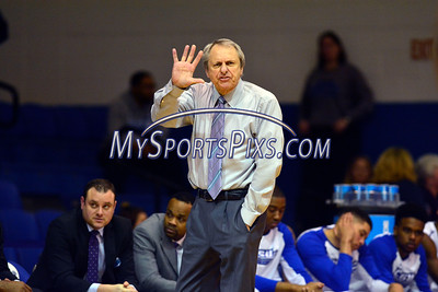2/20/2016 Mike Orazzi | Staff Central Connecticut State's Howie Dickenman during Saturday's basketball game with in Detrick Gymnasium at CCSU on Saturday.