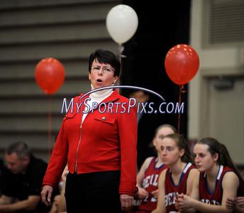 2/17/2016 Mike Orazzi   Staff Berlin High School girls basketball coach Sheila King Wednesday night at Central.