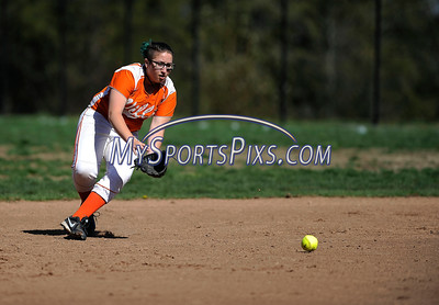 4/27/2016 Mike Orazzi | Staff Terryville High School's Emmilena Russo (8) against Shepaug Wednesday afternoon.