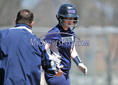 4/15/2016 Mike Orazzi | Staff Newington's Kinsey Delbuono (13) on Friday at Eastern.