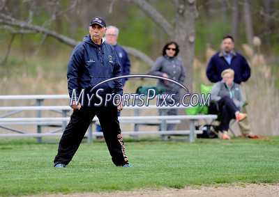 4/28/2016 Mike Orazzi | Staff St. Paul Catholic Varsity Softball Coach Gary Hovhanessian.