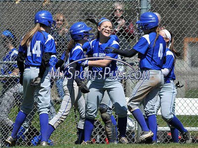 4/15/2016 Mike Orazzi | Staff Bristol Eastern's Jordan Fitzsimons (10) after her first of two home runs on Friday at Eastern.